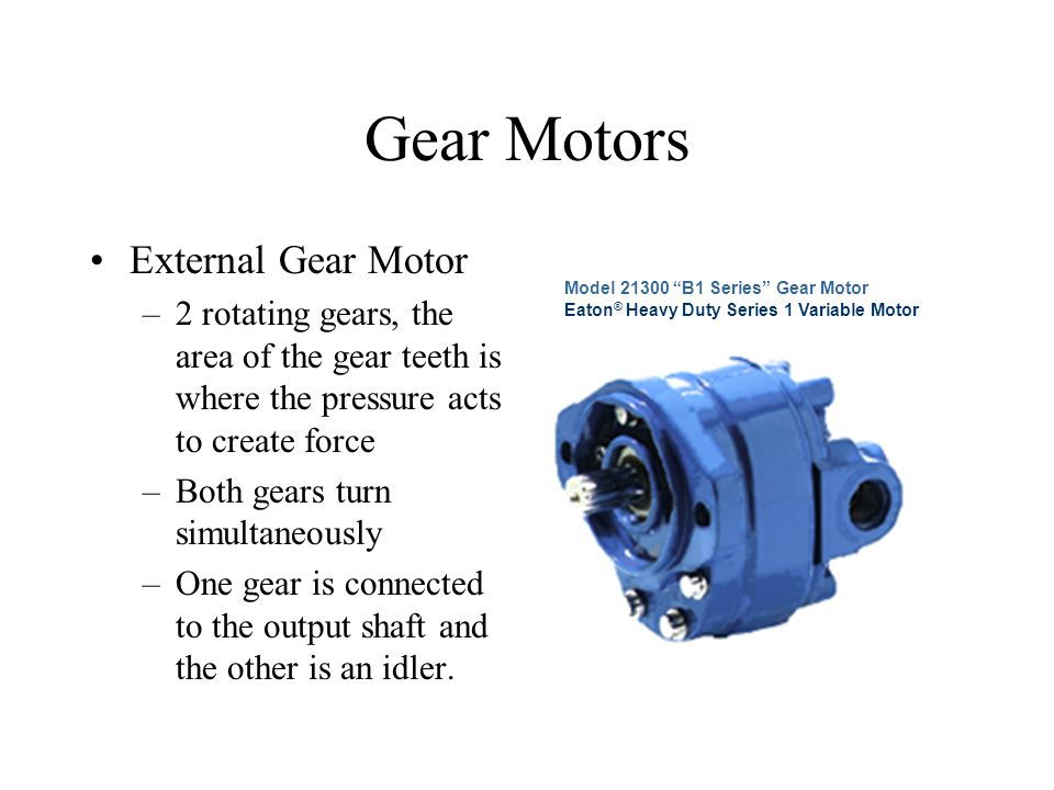 Gear Motors External Gear Motor