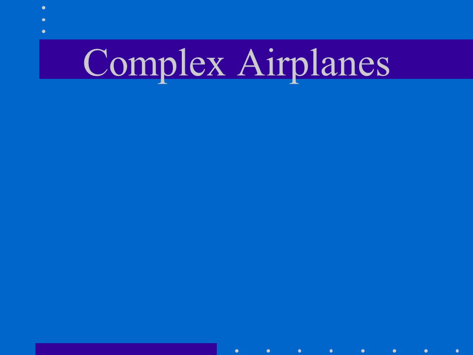 Complex Airplanes