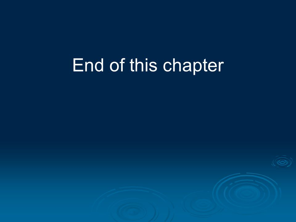 End of this chapter