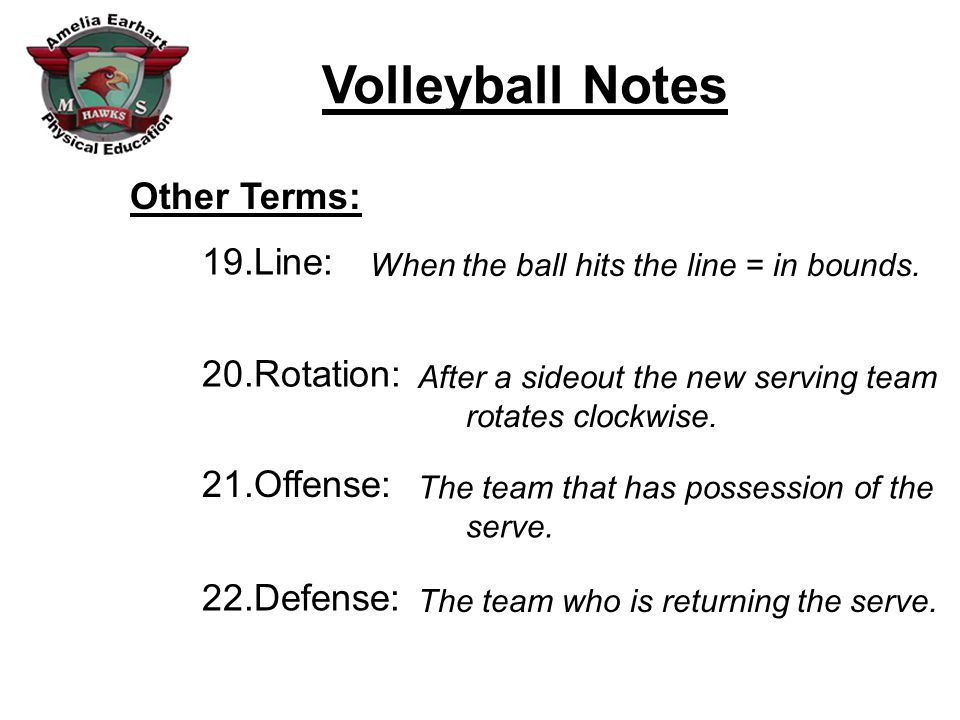 Other Terms: Line: Rotation: Offense: Defense: