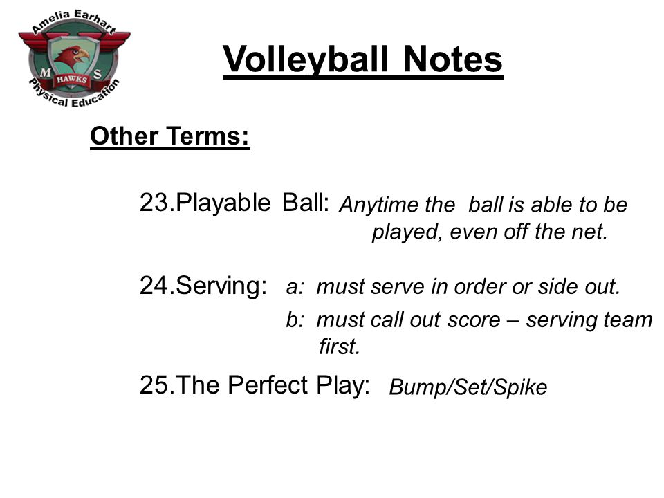 Other Terms: Playable Ball: Serving: The Perfect Play:
