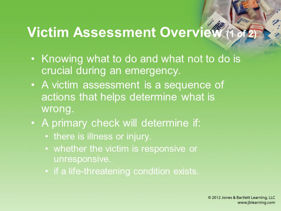 Victim Assessment Overview (1 of 2)