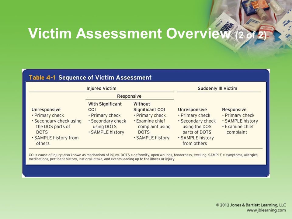 Victim Assessment Overview (2 of 2)