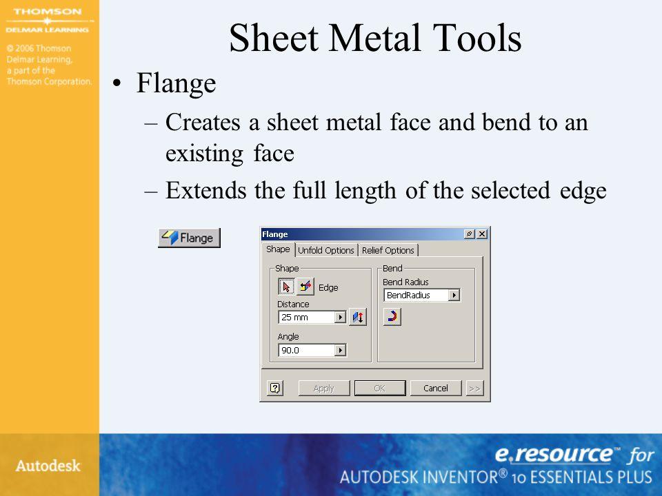 Sheet Metal Tools Flange