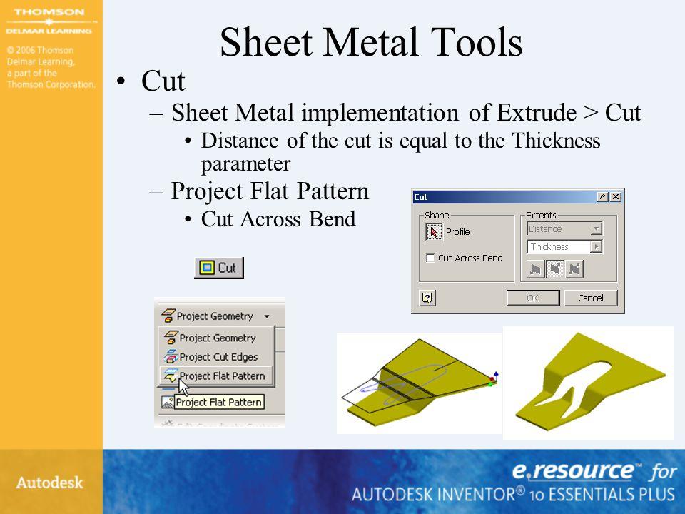 Sheet Metal Tools Cut Sheet Metal implementation of Extrude > Cut