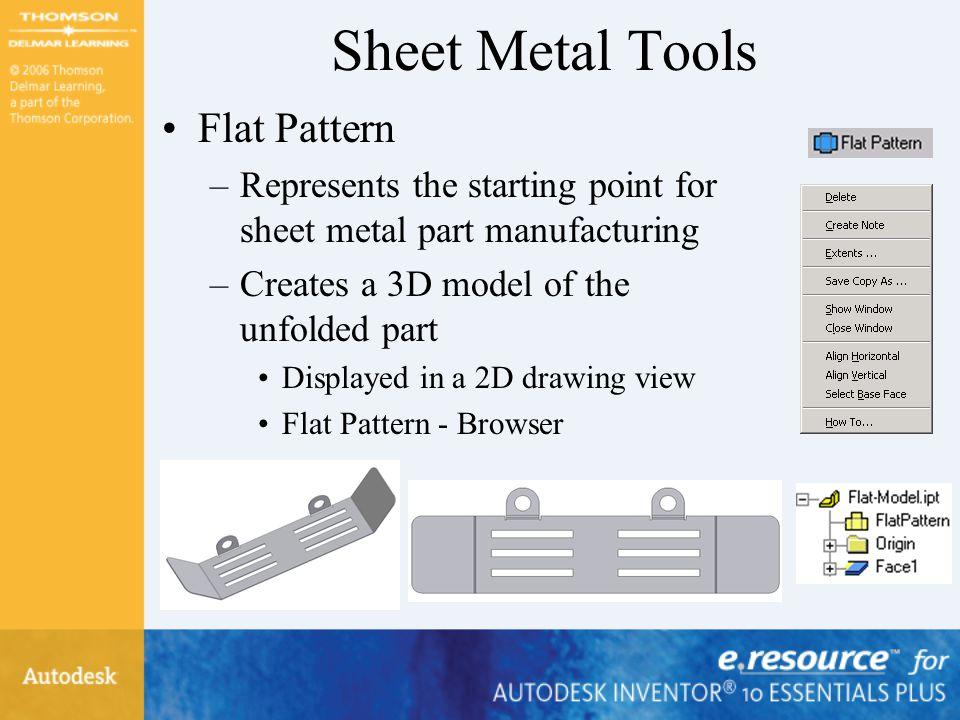 Sheet Metal Tools Flat Pattern