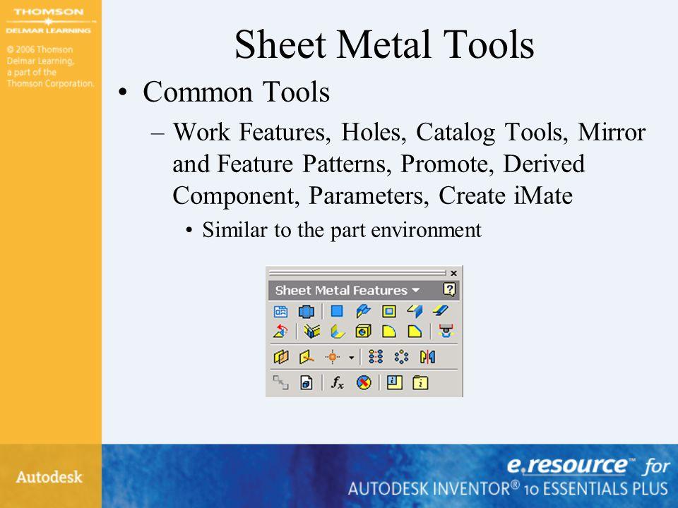 Sheet Metal Tools Common Tools