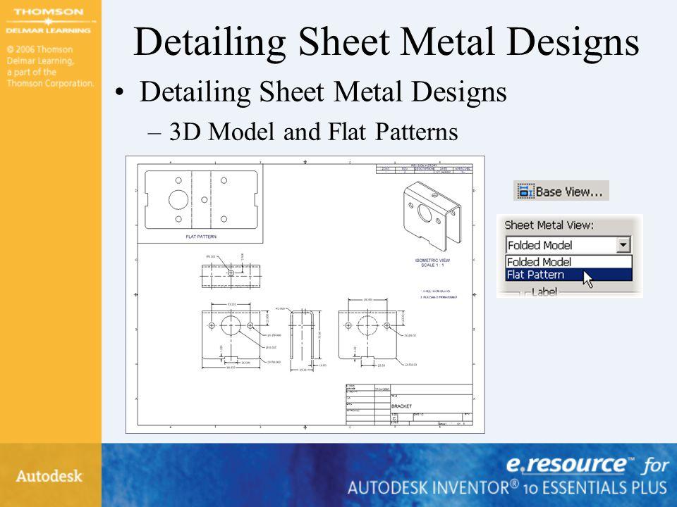 Detailing Sheet Metal Designs