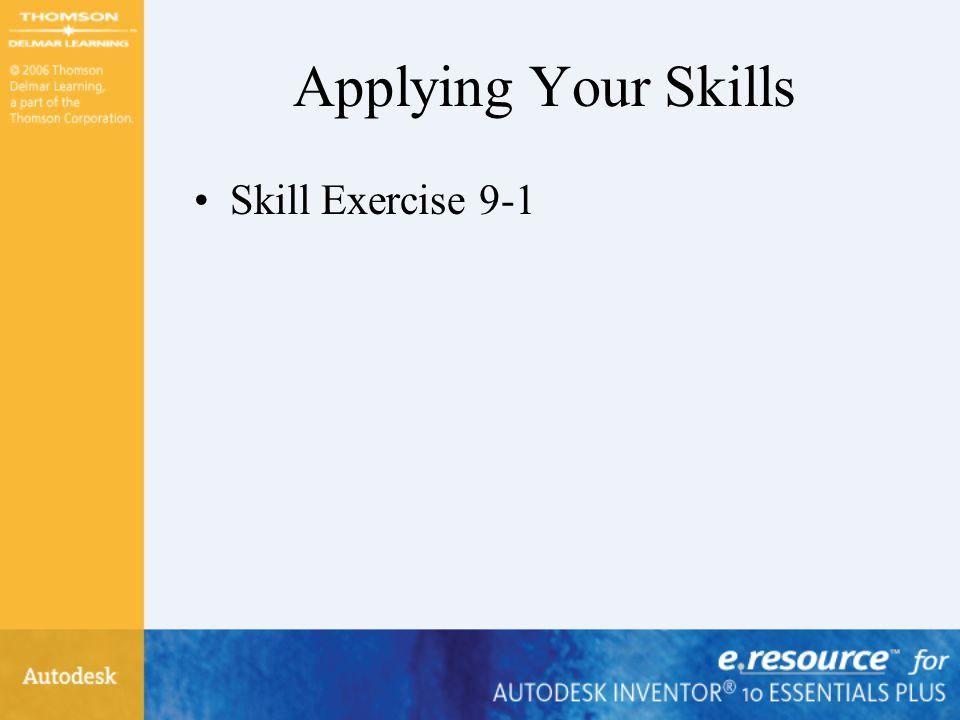 Applying Your Skills Skill Exercise 9-1