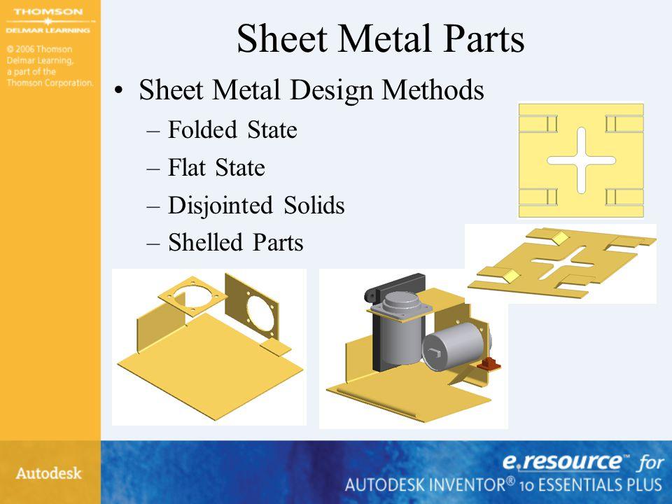 Sheet Metal Parts Sheet Metal Design Methods Folded State Flat State