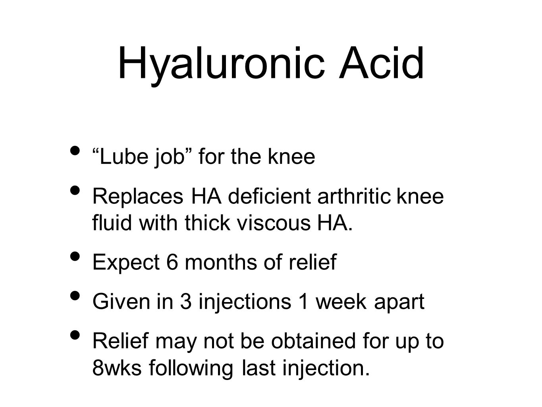 Hyaluronic Acid Lube job for the knee