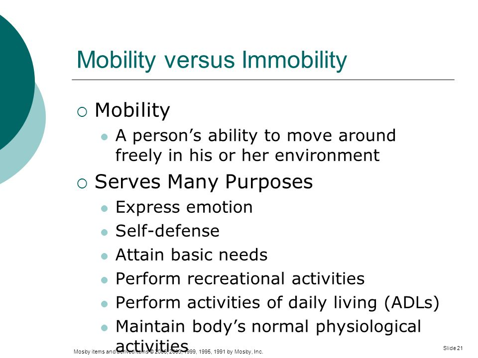 Mobility versus Immobility