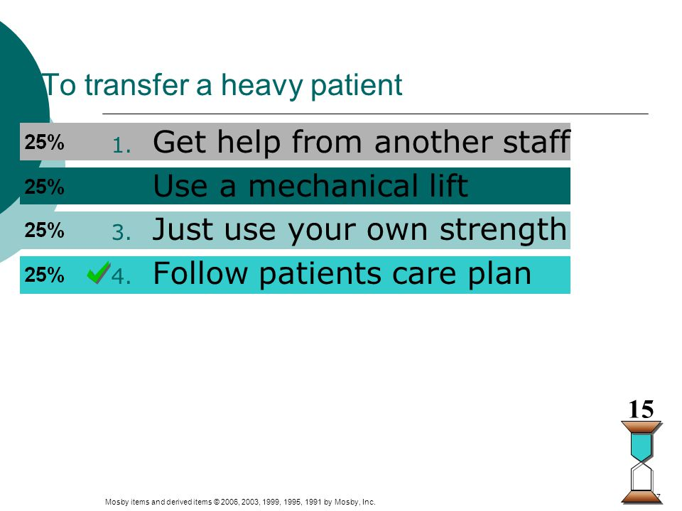 To transfer a heavy patient