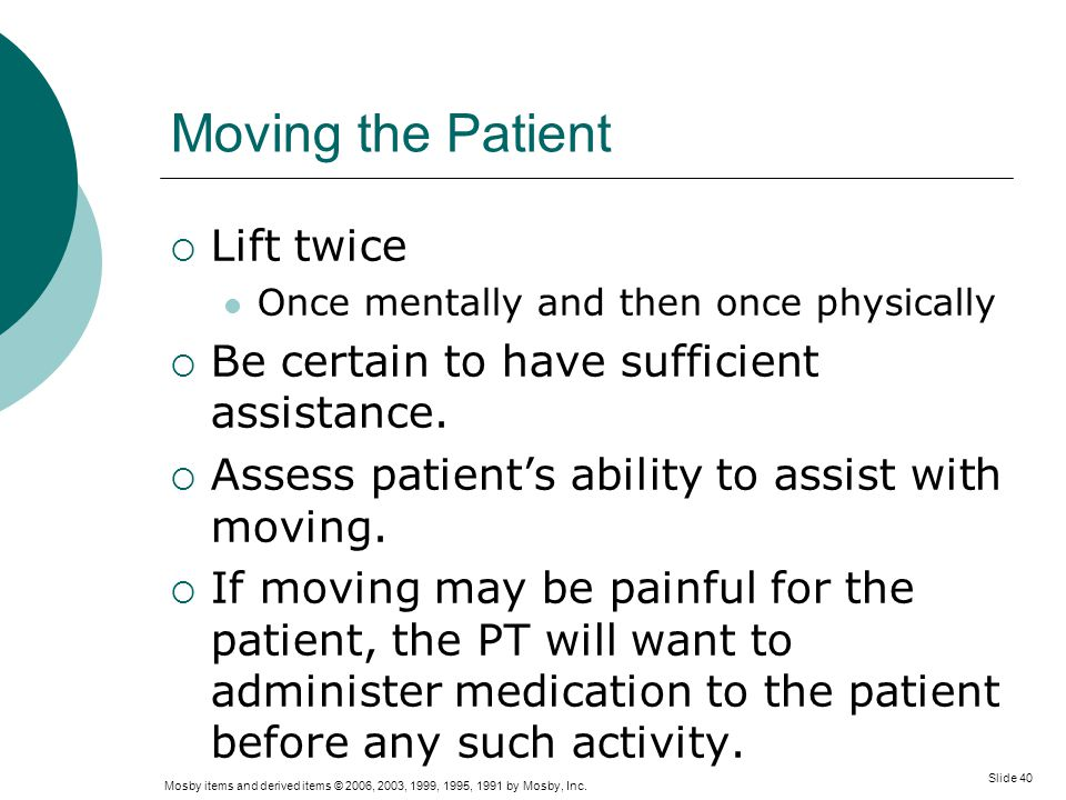 Moving the Patient Lift twice