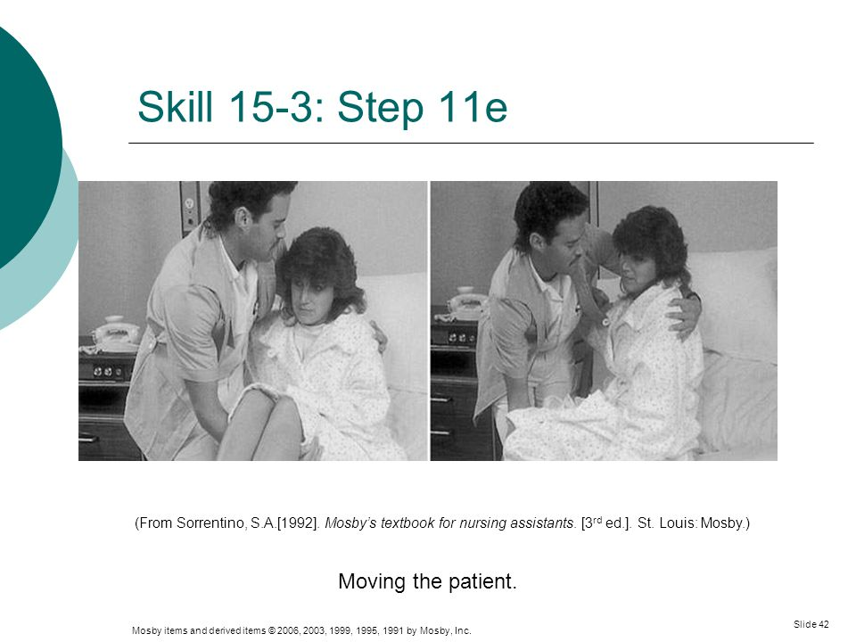 Skill 15-3: Step 11e Moving the patient.
