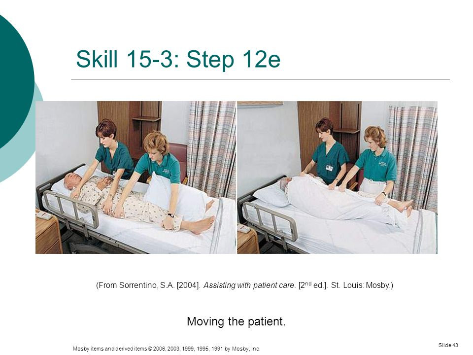 Skill 15-3: Step 12e Moving the patient.