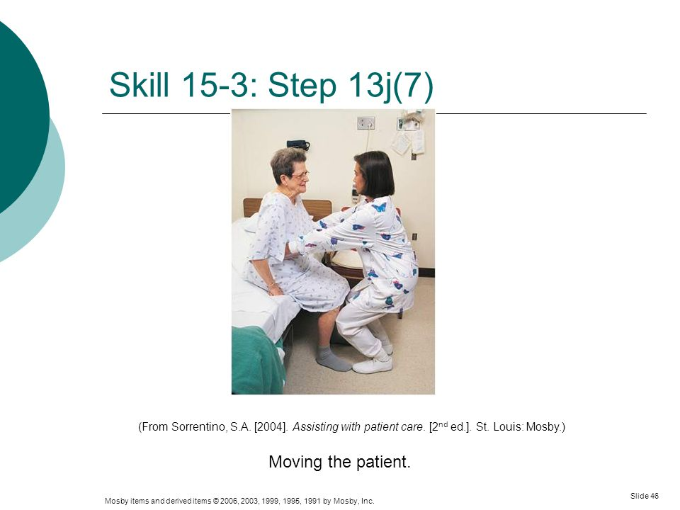 Skill 15-3: Step 13j(7) Moving the patient.
