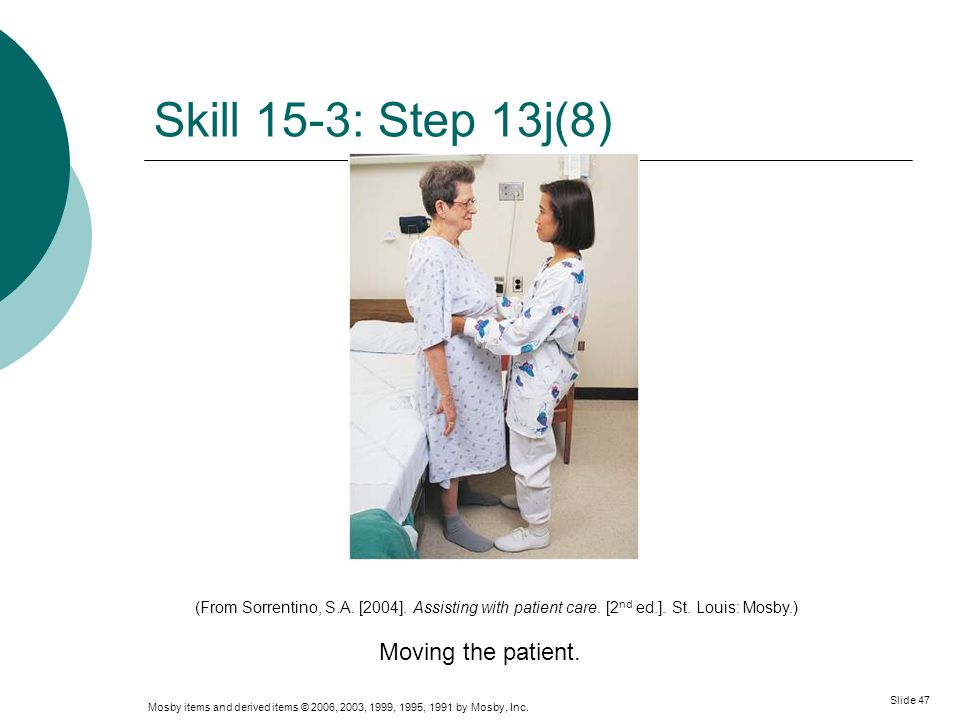 Skill 15-3: Step 13j(8) Moving the patient.
