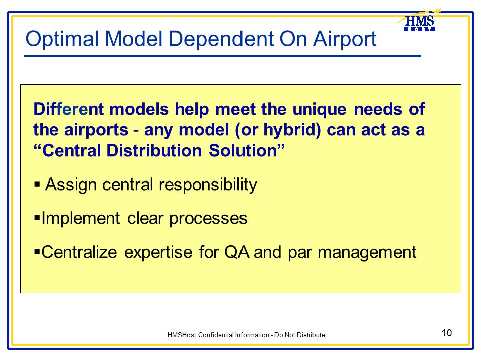 Optimal Model Dependent On Airport