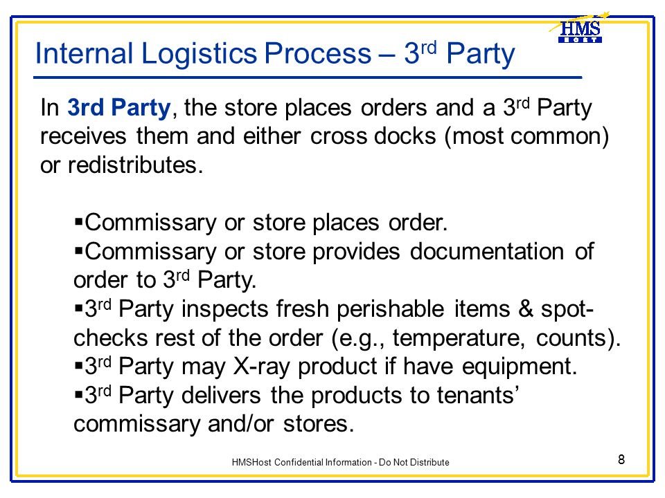 Internal Logistics Process – 3rd Party