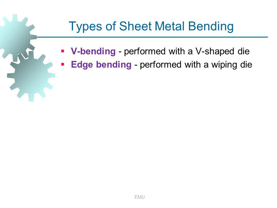 Types of Sheet Metal Bending
