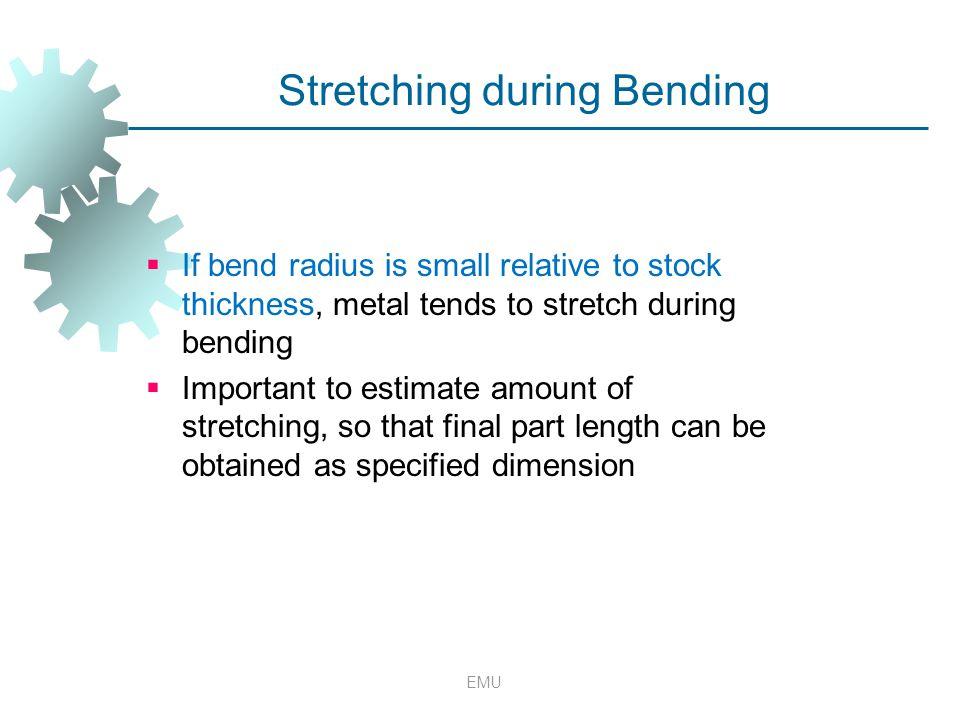 Stretching during Bending