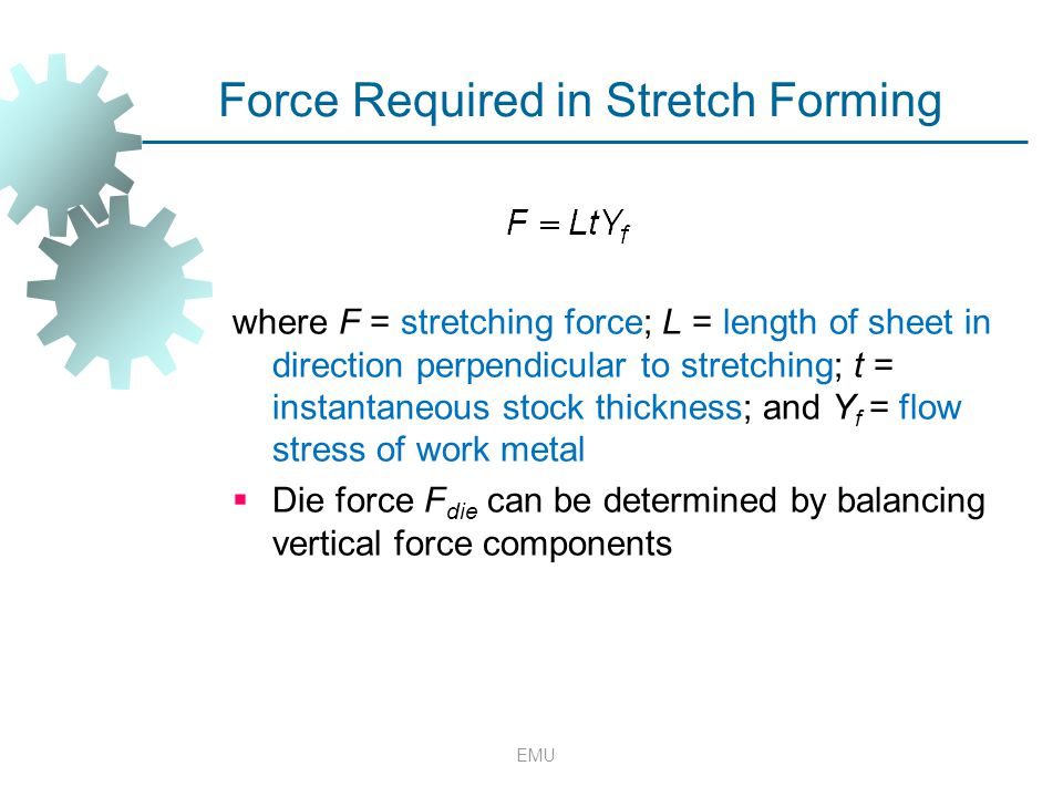Force Required in Stretch Forming