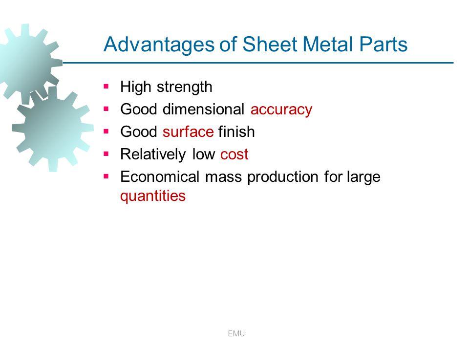Advantages of Sheet Metal Parts