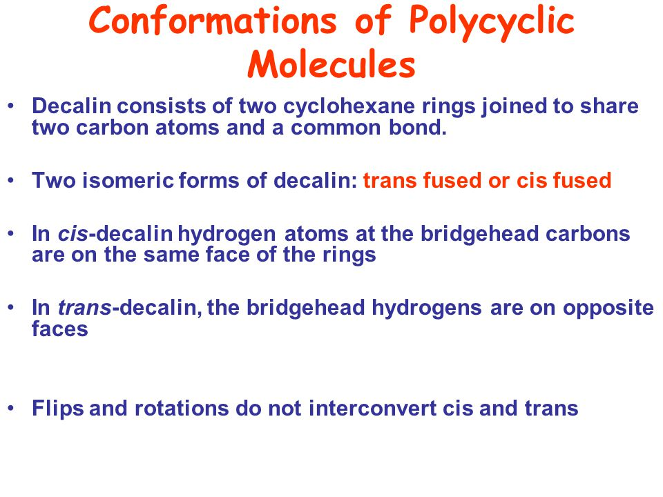 Conformations of Polycyclic Molecules