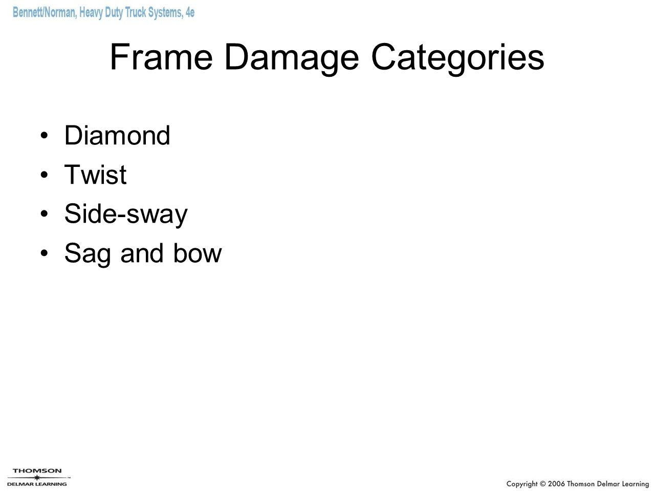 Frame Damage Categories
