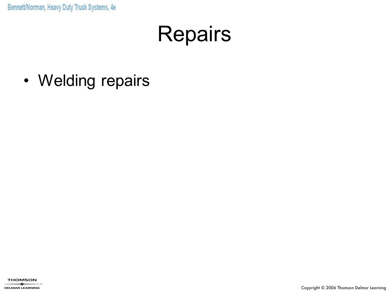 Repairs Welding repairs