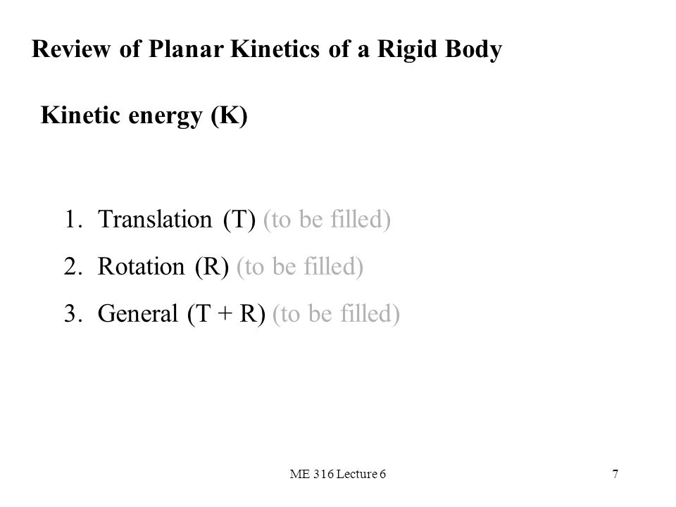 Review of Planar Kinetics of a Rigid Body