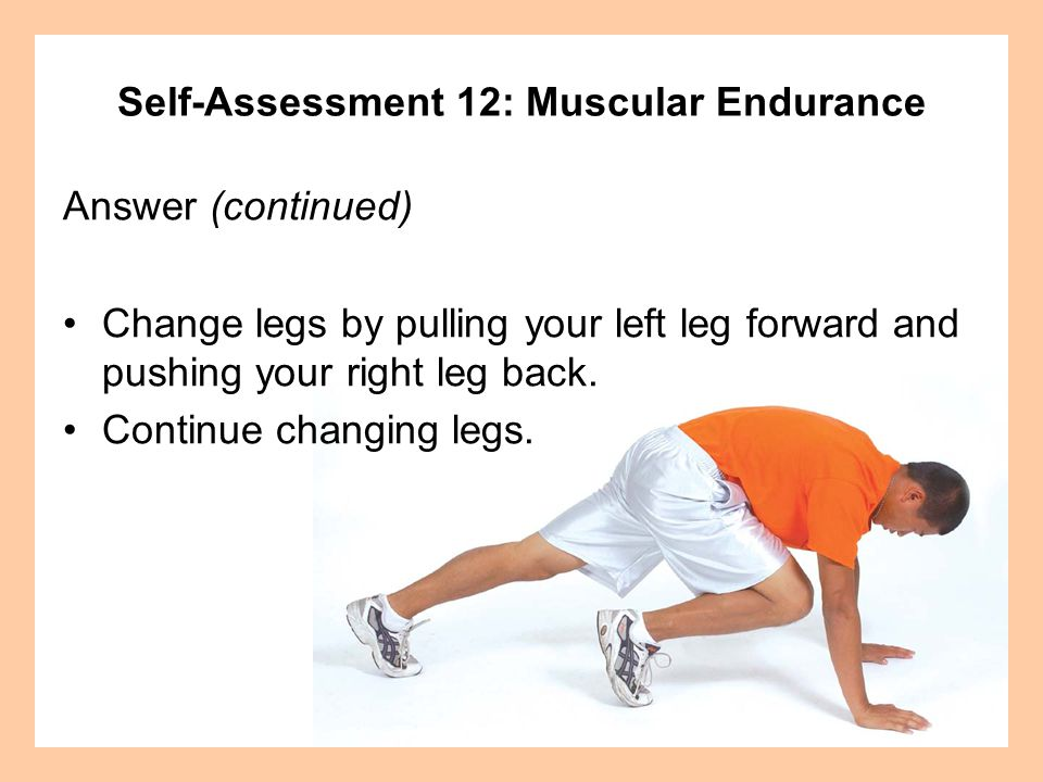 Self-Assessment 12: Muscular Endurance