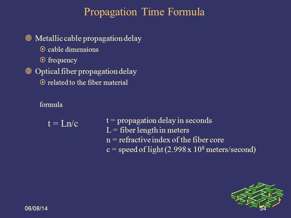 Propagation Time Formula