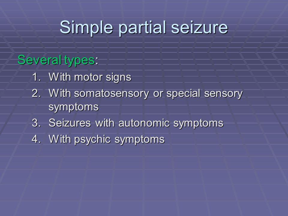 Simple partial seizure