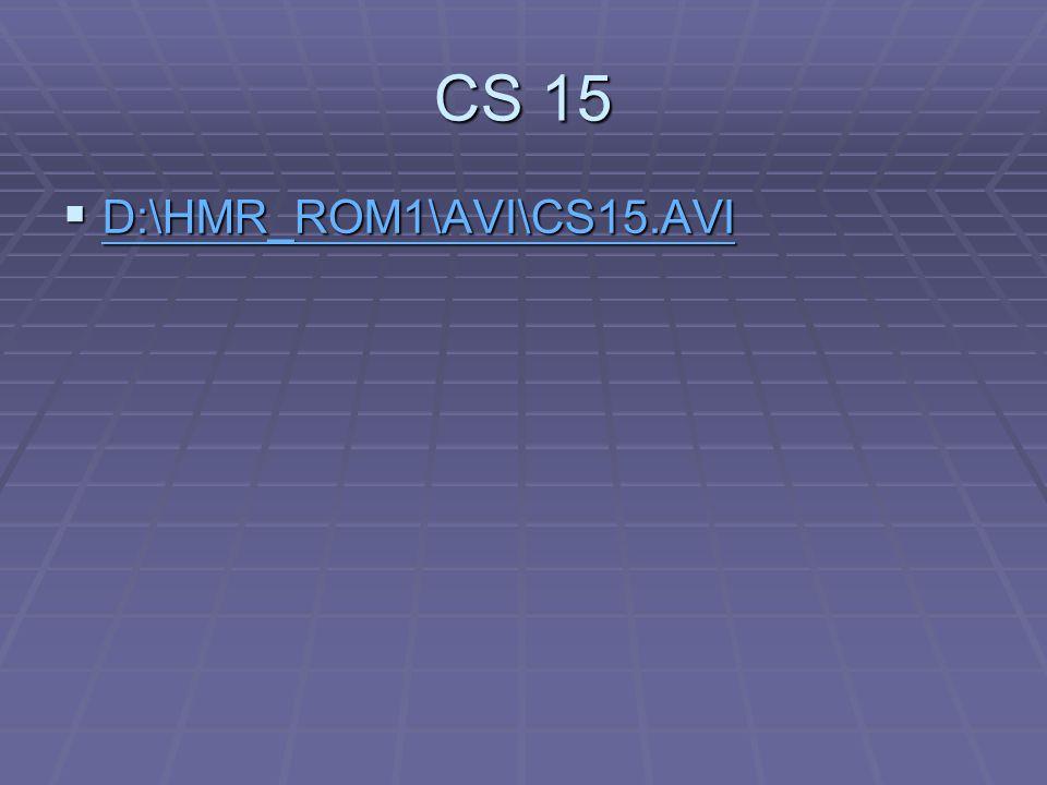 CS 15 D:\HMR_ROM1\AVI\CS15.AVI V 15
