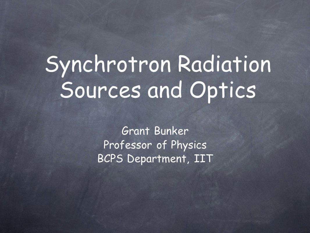 Synchrotron Radiation Sources and Optics