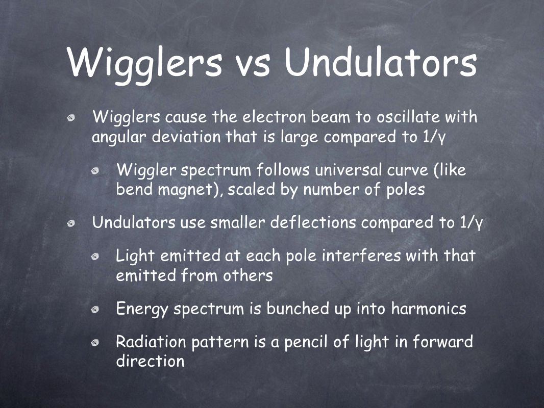 Wigglers vs Undulators