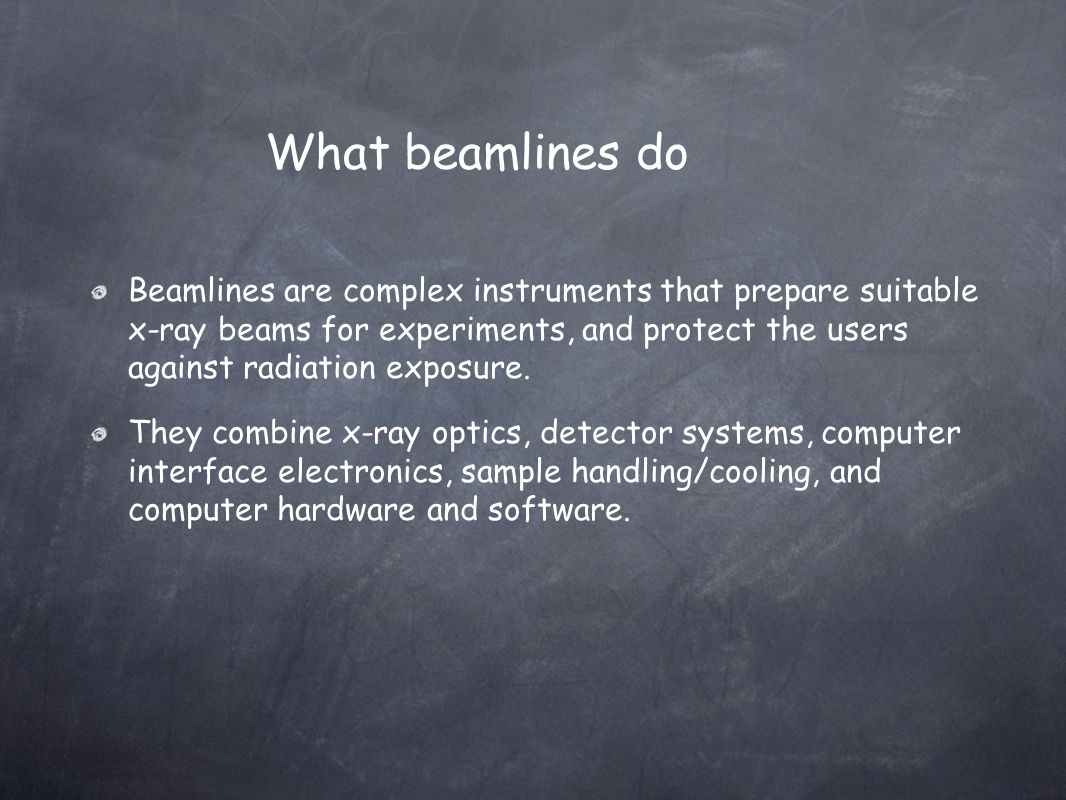 What beamlines do