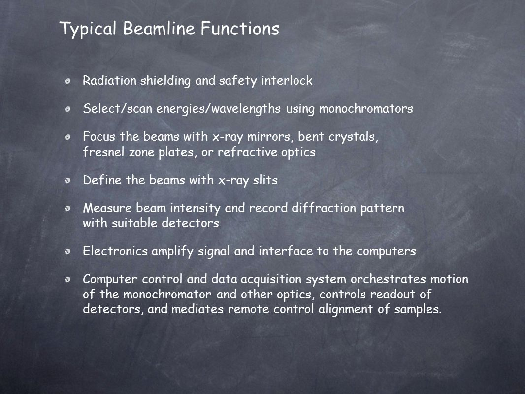 Typical Beamline Functions