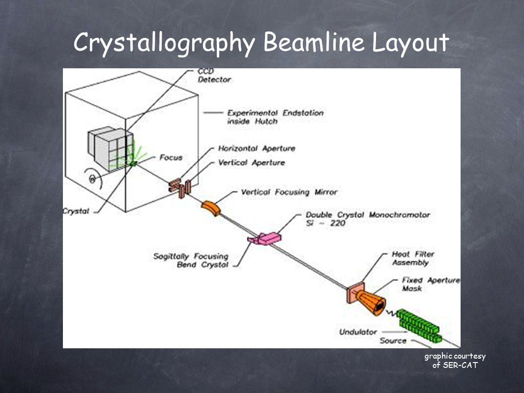 Crystallography Beamline Layout