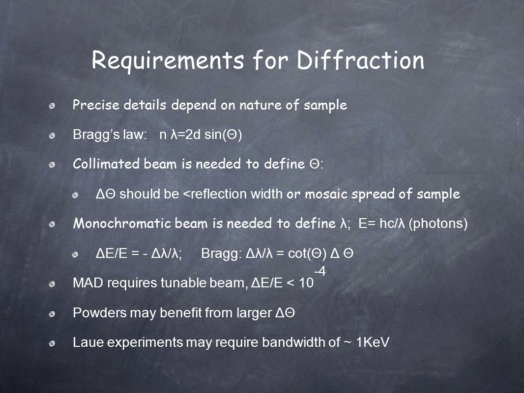 Requirements for Diffraction