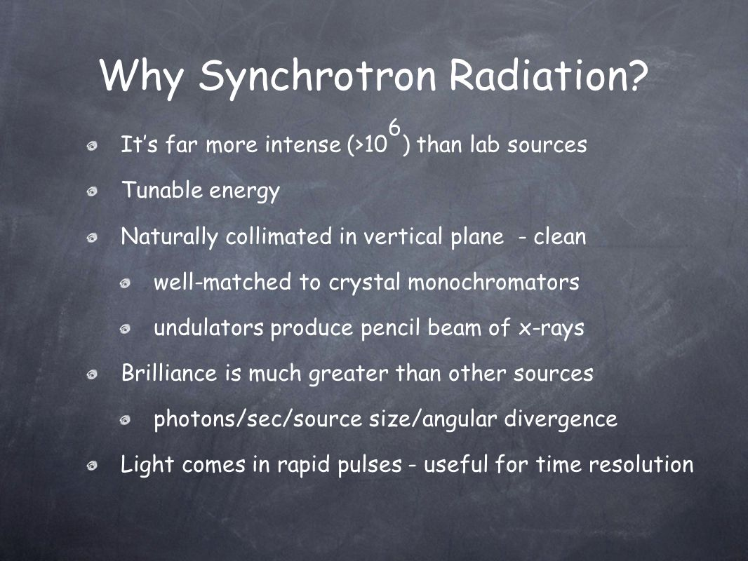 Why Synchrotron Radiation