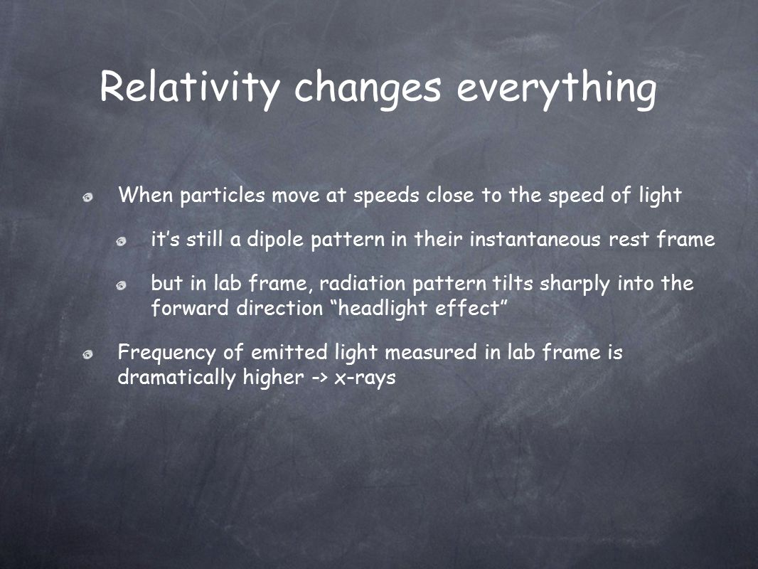 Relativity changes everything