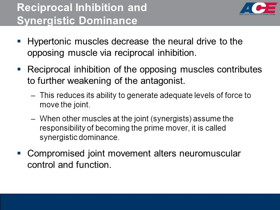 Reciprocal Inhibition and Synergistic Dominance