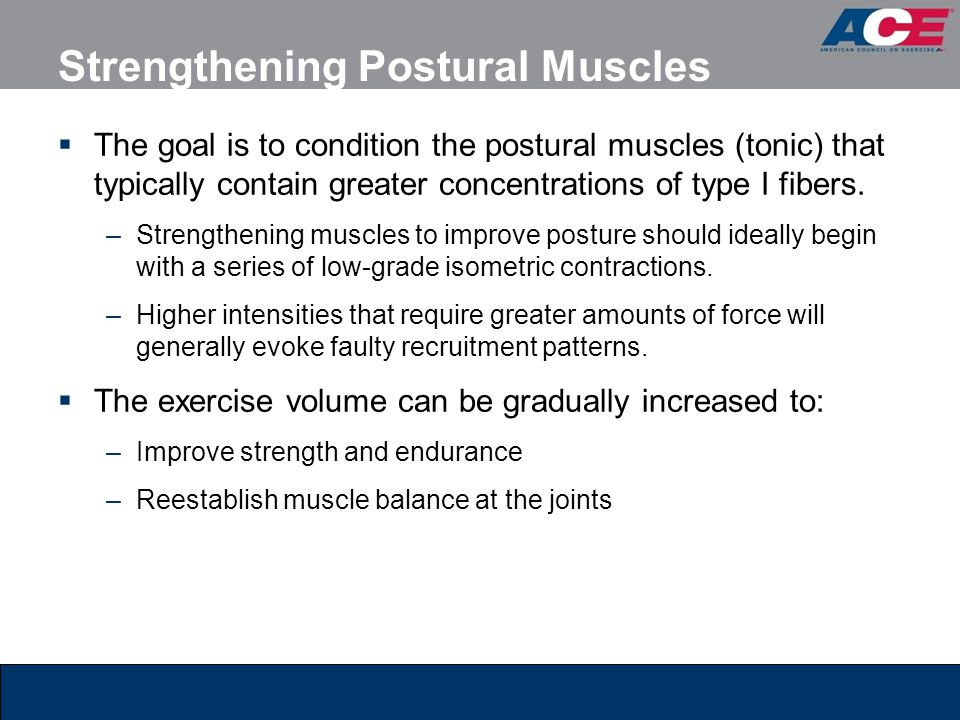 Strengthening Postural Muscles