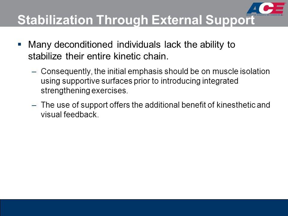 Stabilization Through External Support