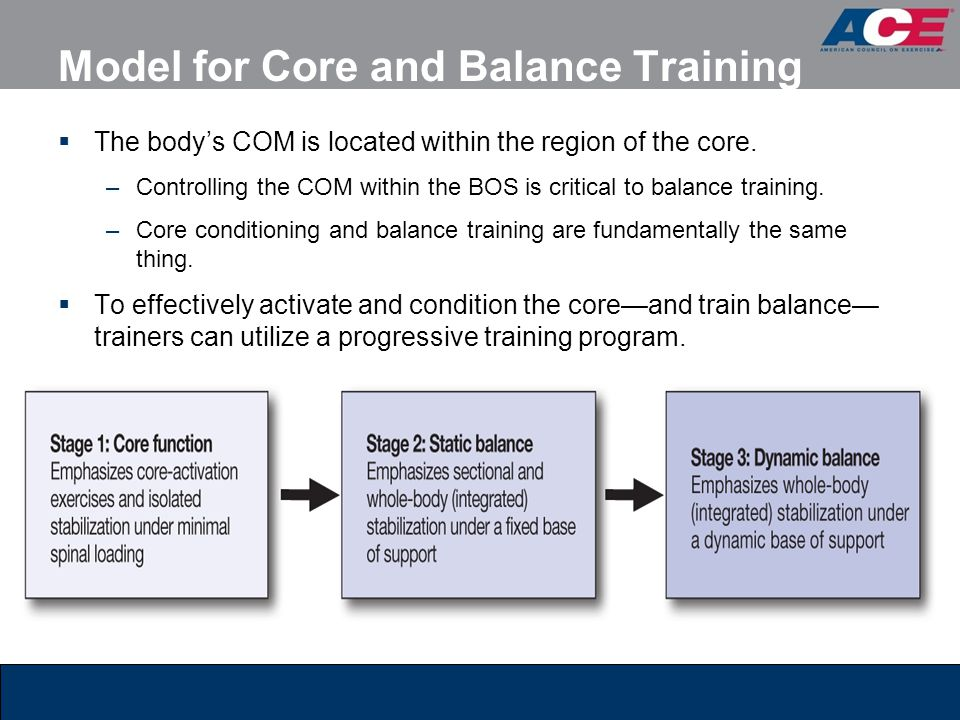 Model for Core and Balance Training