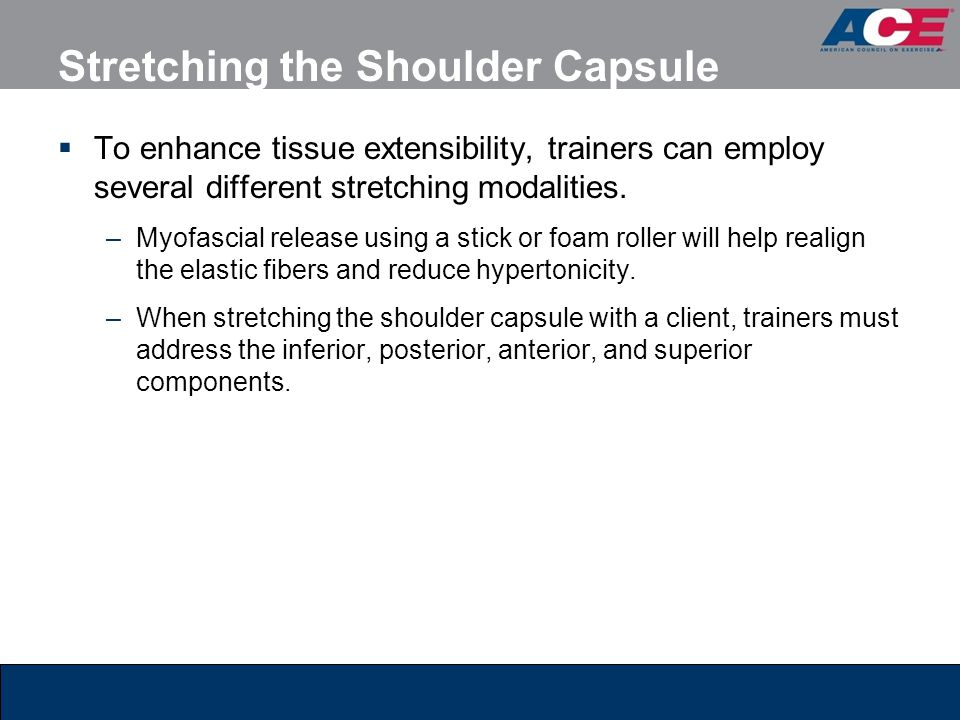 Stretching the Shoulder Capsule