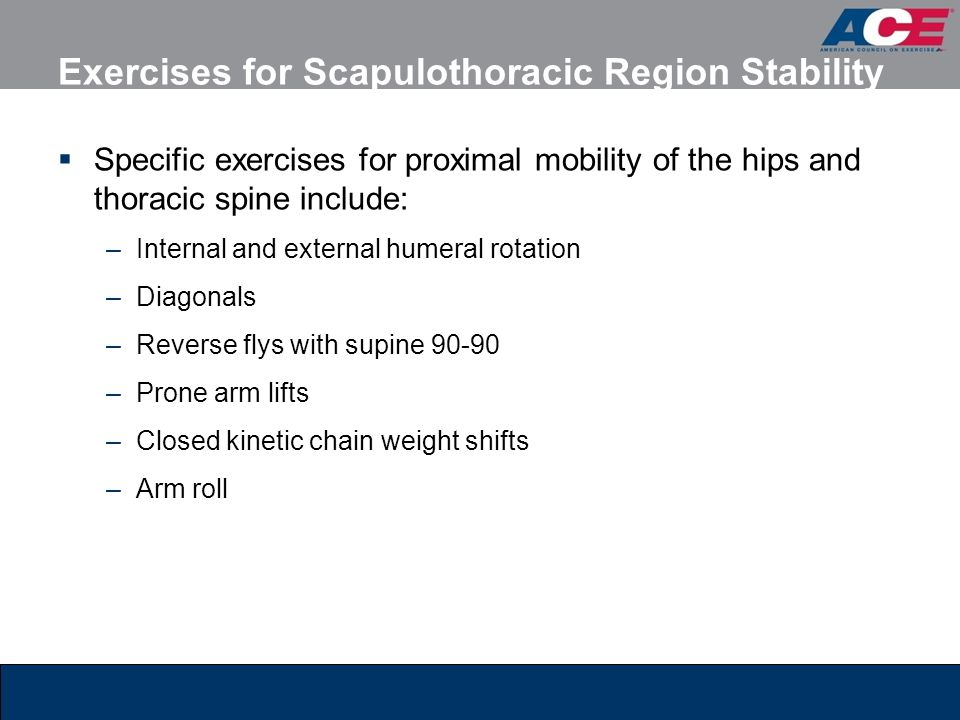 Exercises for Scapulothoracic Region Stability